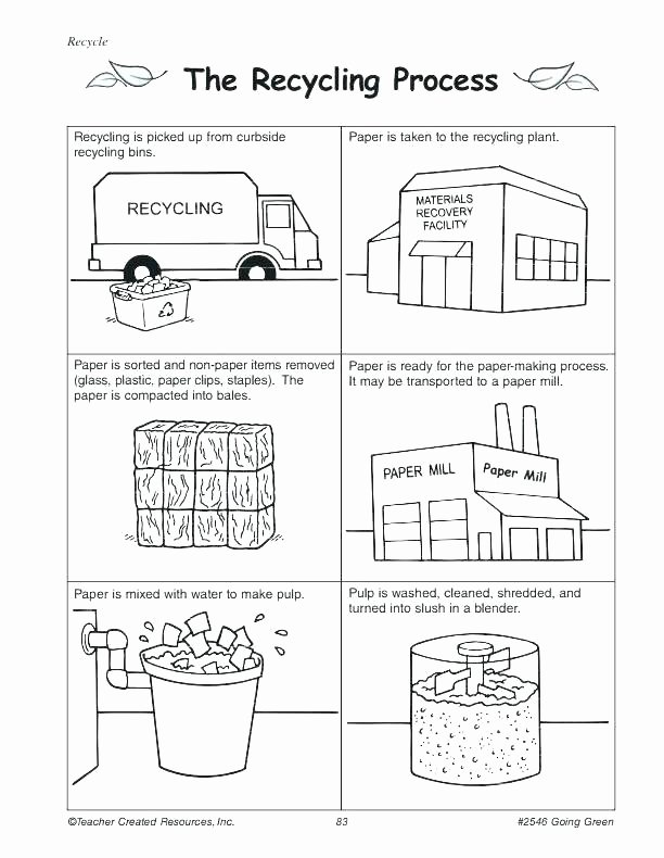 Recycling Worksheets for Middle School Recycling Worksheets Pdf