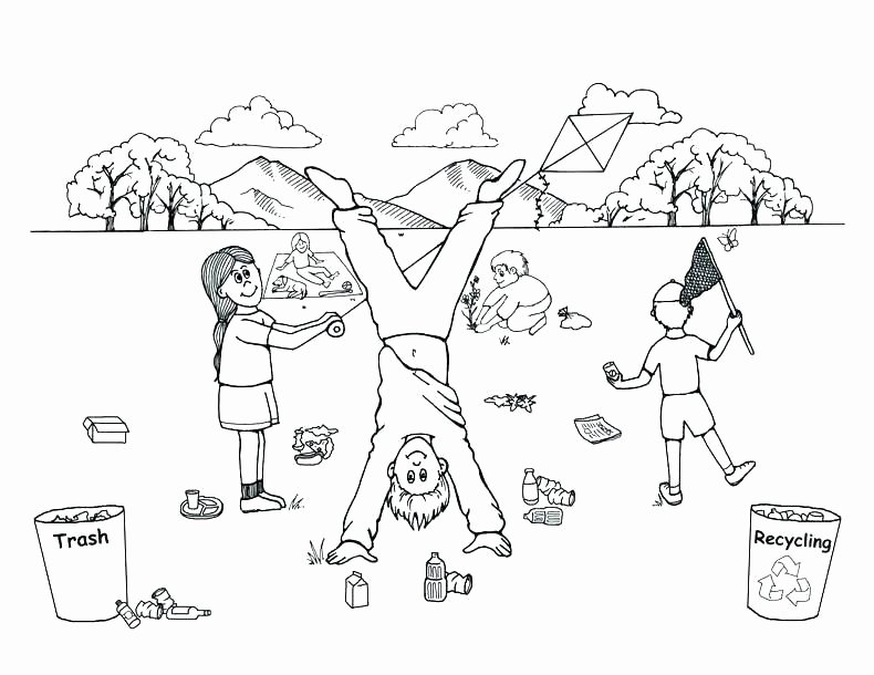 Recycling Worksheets for Preschoolers Recycling Coloring Pages Printable – thegoodvibeshop