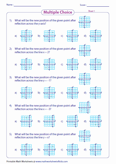 Reflection Math Worksheets Best Of Reflection Point 6th Grade