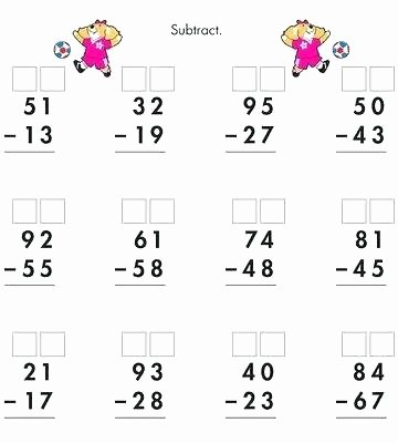 Regrouping Subtraction Worksheets 3rd Grade Teaching Subtraction with Regrouping Worksheets