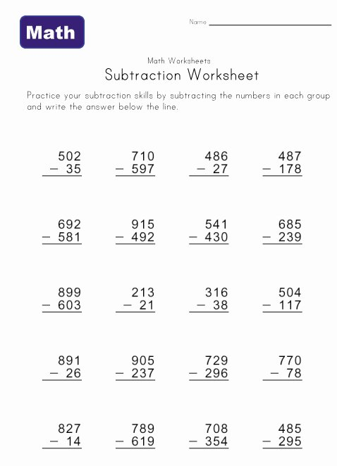 Regrouping with Zeros Worksheets Subtraction with Zero Difficulty Worksheets