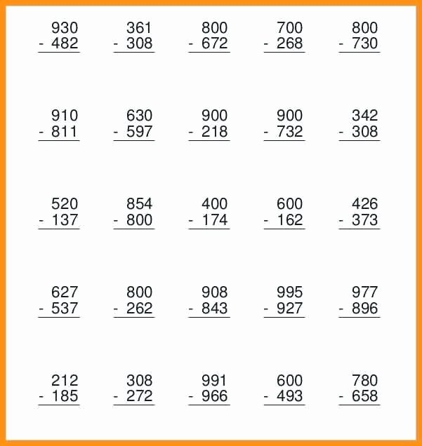 Regrouping with Zeros Worksheets Subtraction with Zero Worksheet Related Post Subtraction