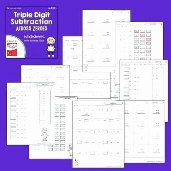 Regrouping with Zeros Worksheets Triple Digit Subtraction Worksheets – Trungcollection