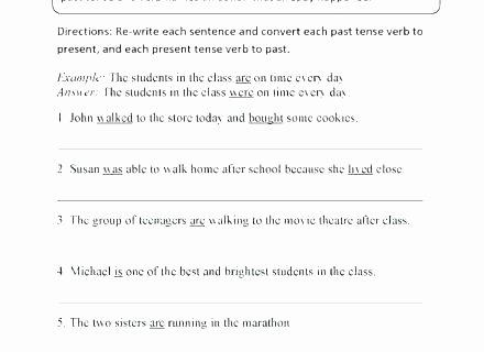 Regular Past Tense Verb Worksheets Past Tense Worksheets for Grade 4