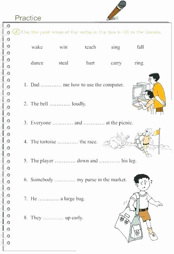 Regular Past Tense Verb Worksheets Regular Past Tense Verbs Worksheets