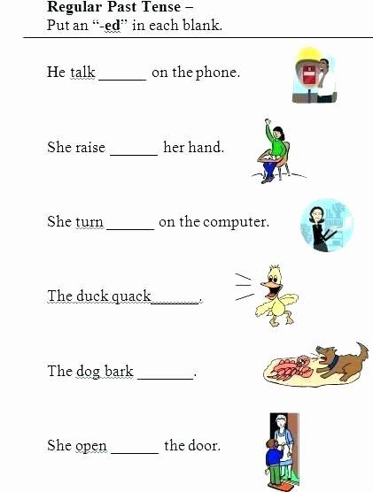Regular Past Tense Verb Worksheets Tenses Worksheets for Grade 4 Verb Tense Worksheets Tenses