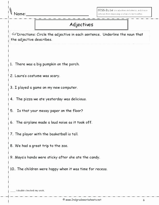 Relative Adverbs Worksheet 4th Grade Adverb Worksheets 4th Grade New for 2 Adjective