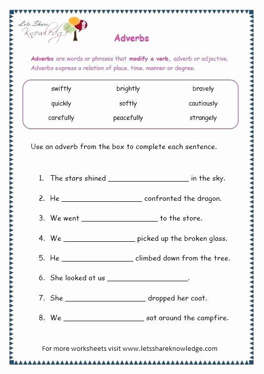 Relative Adverbs Worksheet 4th Grade Adverb Worksheets Pdf – Newstalkfo