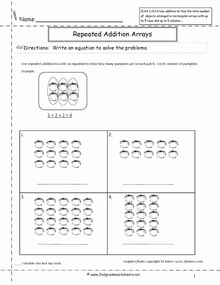 Repeated Addition Worksheets 2nd Grade Repeated Addition Worksheets Elegant Y Repeated Addition
