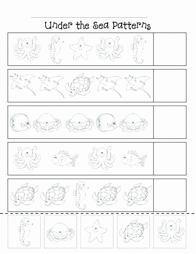 Repeated Pattern Worksheets Ab Pattern Worksheets for Preschool Free Printable Pattern