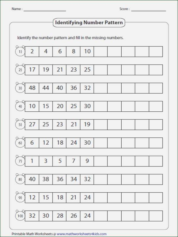 Repeated Patterns Worksheets Pattern Worksheets
