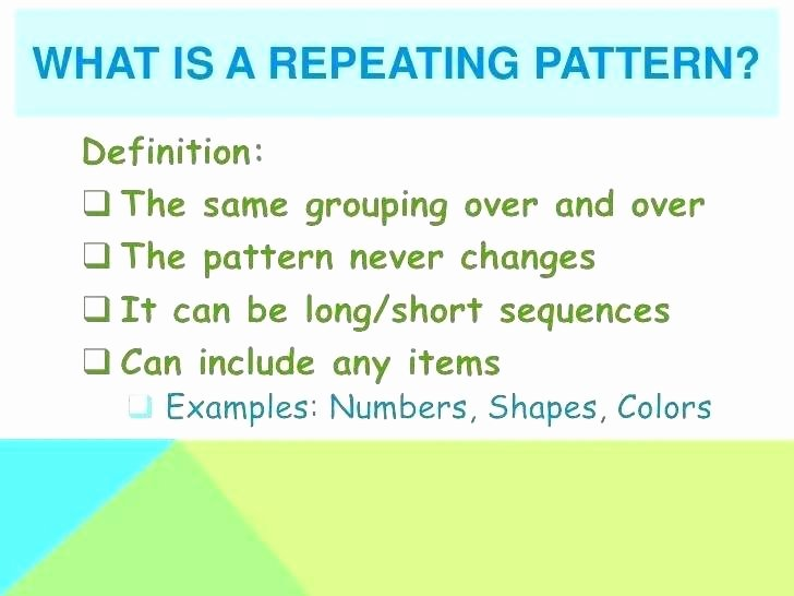 Repeated Patterns Worksheets Patterns 1st Grade Growing Patterns Worksheets for All