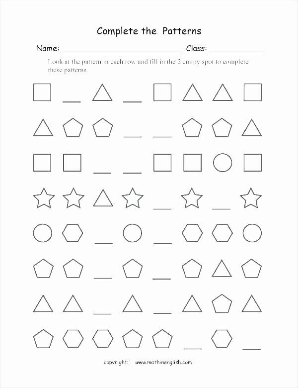 Repeating Pattern Worksheets Counting Patterns Worksheets Grade 2 – Primalvape