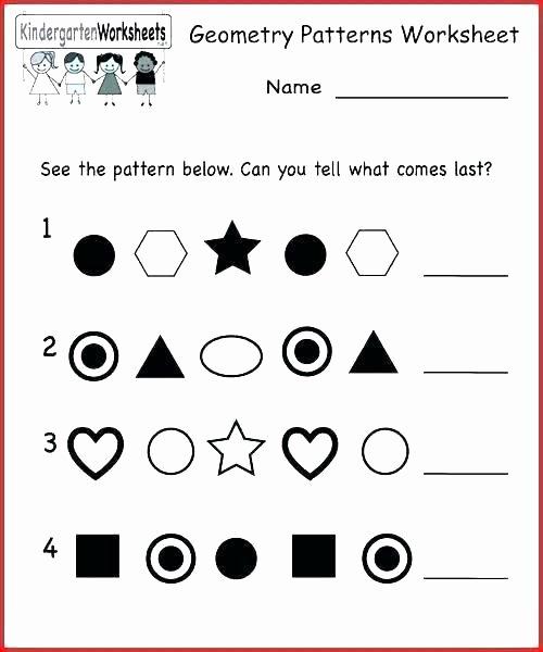 Repeating Pattern Worksheets Shapes Kindergarten Worksheets – Sunriseengineers