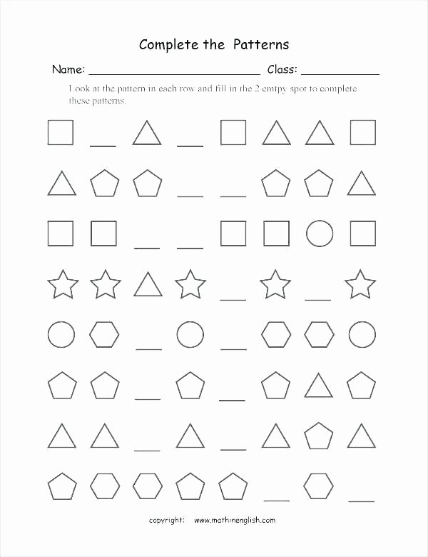 Repeating Patterns Worksheets Counting Patterns Worksheets Grade 2 – Primalvape
