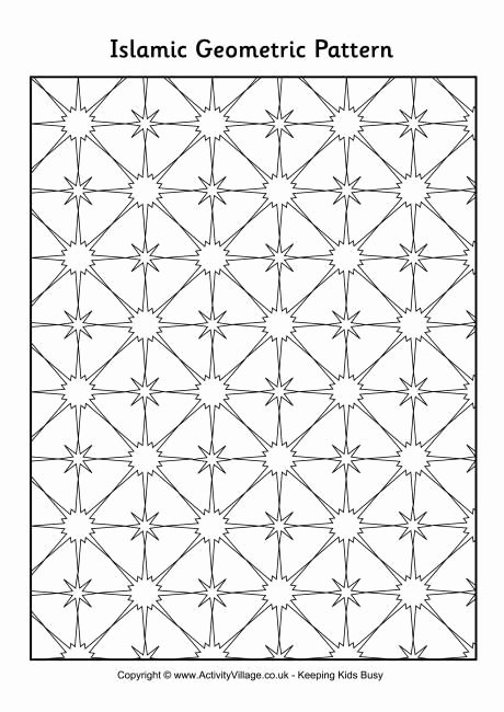 Repeating Patterns Worksheets islamic Geometric Pattern 2