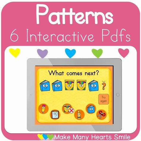 Repeating Patterns Worksheets Patterns Interactive Pdfs School Supplies Mmhs23