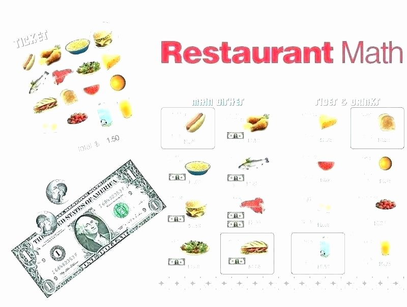 Restaurant Math Worksheets Free Printable Money Math Worksheets Money Math Worksheets