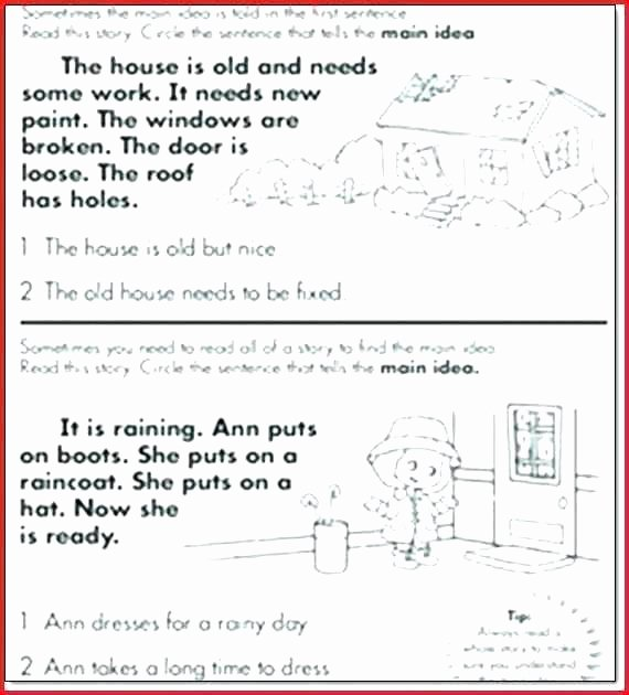 Retell Worksheet First Grade Main Idea Worksheets 1st Grade Retelling Worksheets Grade