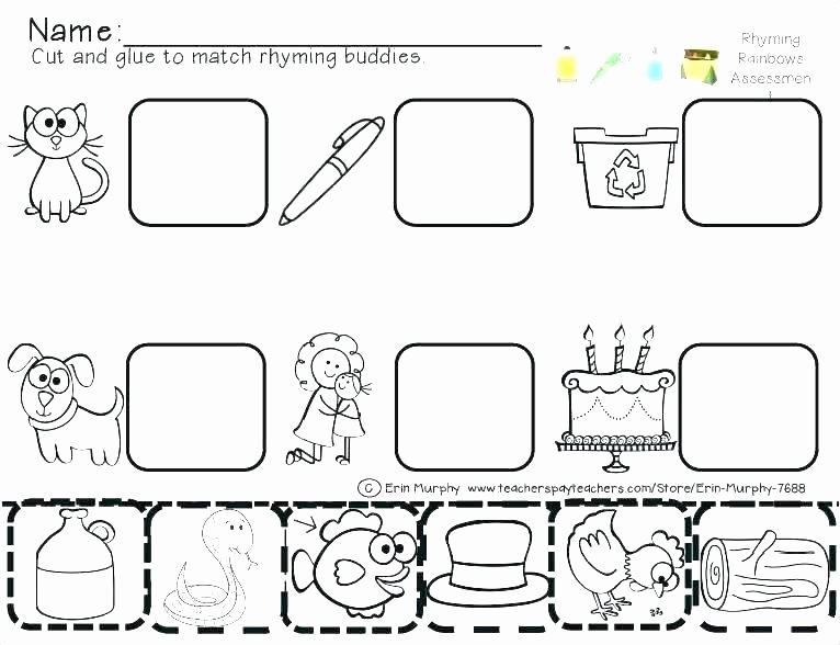 Rhyming Worksheets for Preschool Letter T Worksheets for toddlers