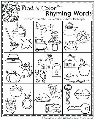 Rhyming Worksheets for Preschoolers Free Printable Rhyming Words Worksheets