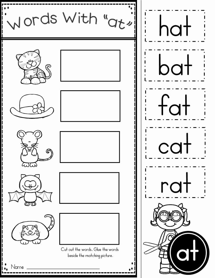 Rhyming Worksheets for Preschoolers Kindergarten Reading Worksheet 2