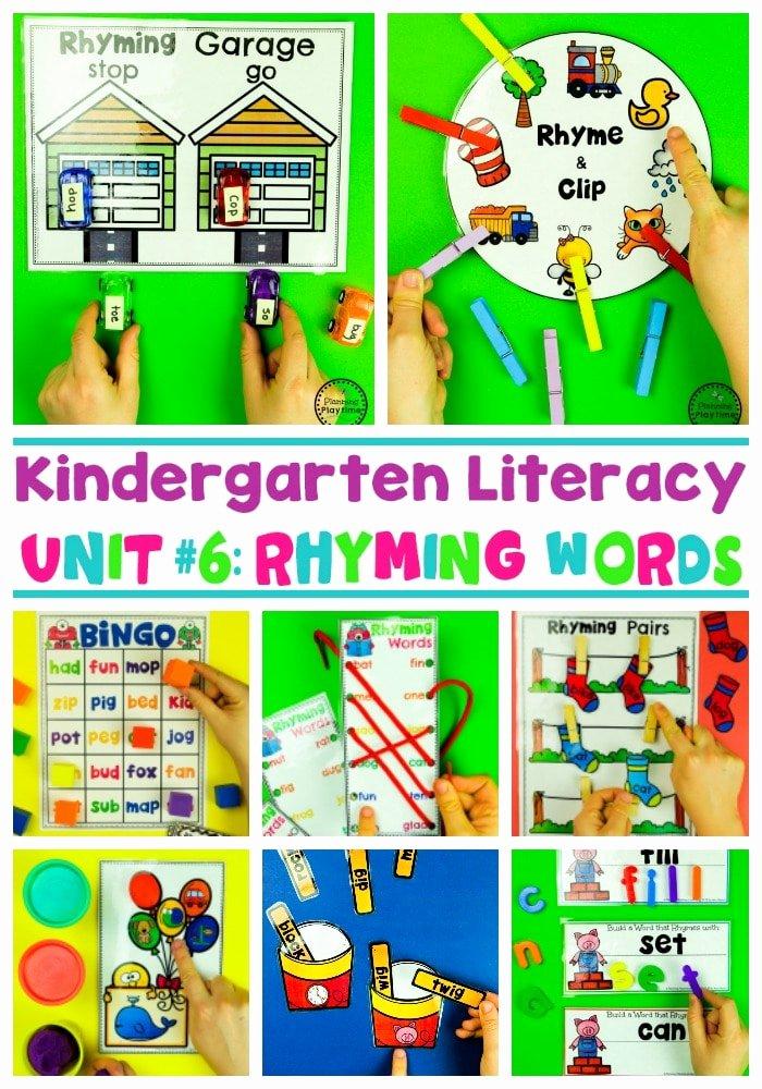 Rhyming Worksheets for Preschoolers Rhyming Words for Kids Planning Playtime