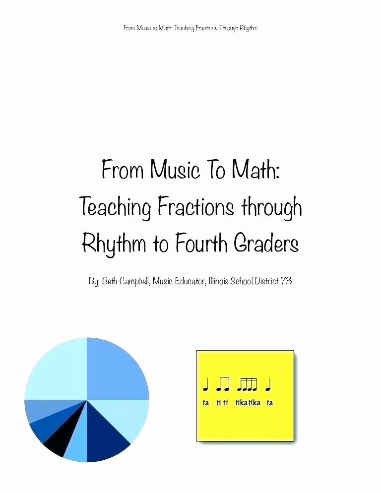 Rhythm Counting Worksheet Pdf Lovely From Music to Math Teaching Fractions Through Rhythm Fourth