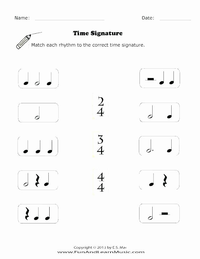 Rhythm Worksheets for Middle School Free Rhythm Worksheets