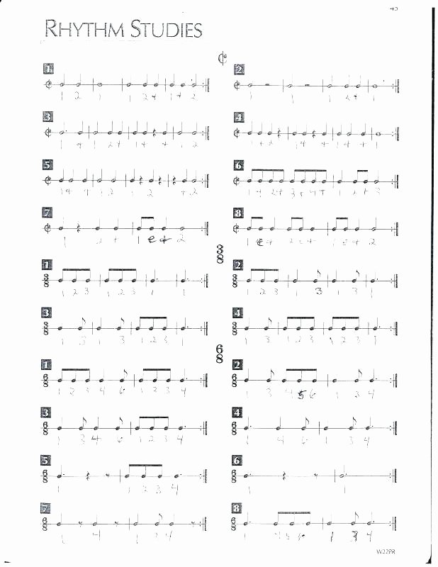Rhythm Worksheets for Middle School Middle School Band Worksheets