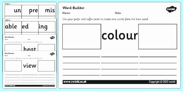 Root Word Practice Worksheet Prefix and Suffix Activities Printable Worksheets for Grade