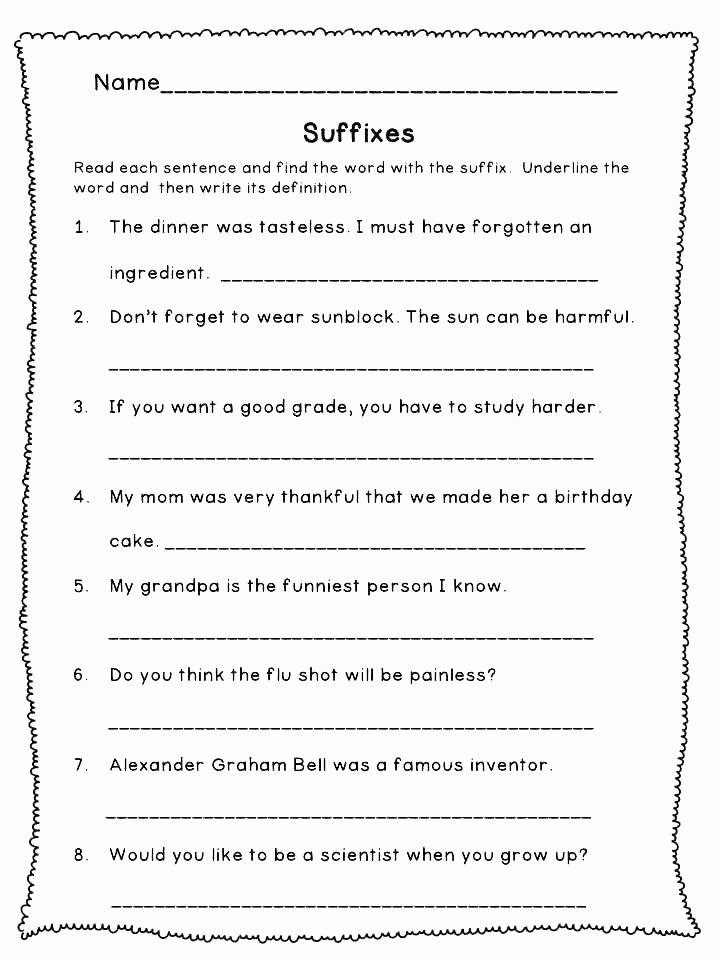 Root Word Worksheets 2nd Grade Prefix Worksheets 5th Grade