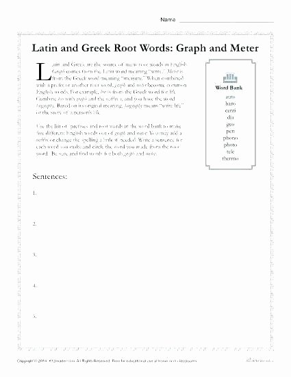 Root Word Worksheets Middle School About Worksheets Prefix Suffix and Root Word Worksheet for