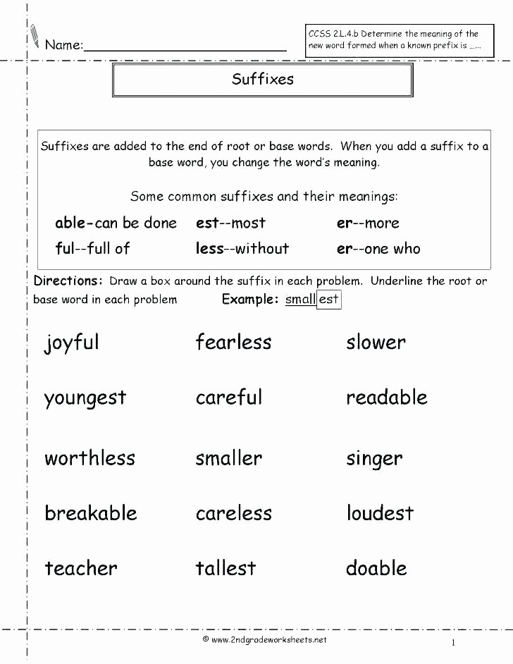 Root Word Worksheets Middle School Prefix and Suffix Worksheets High School
