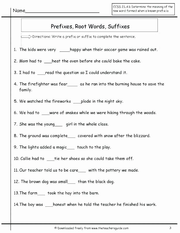 Root Words Worksheet 2nd Grade Grade Language Arts Lesson Plans Lovely Best Prefixes