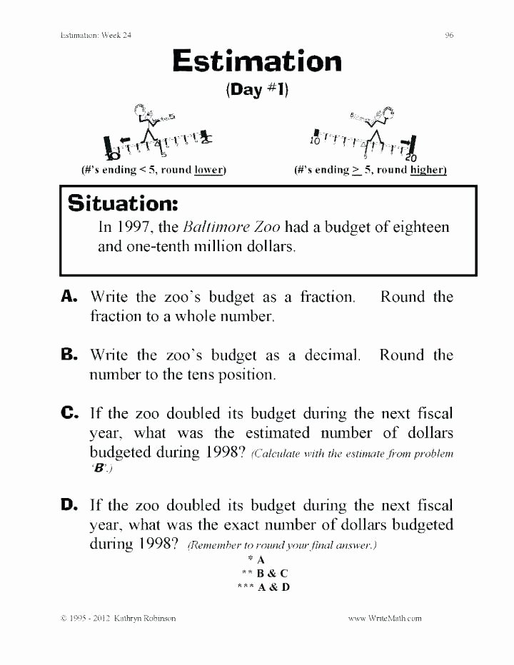 Rounding Numbers Worksheets Pdf Worksheets for Grade Math Kindergarten In Preschool and Full