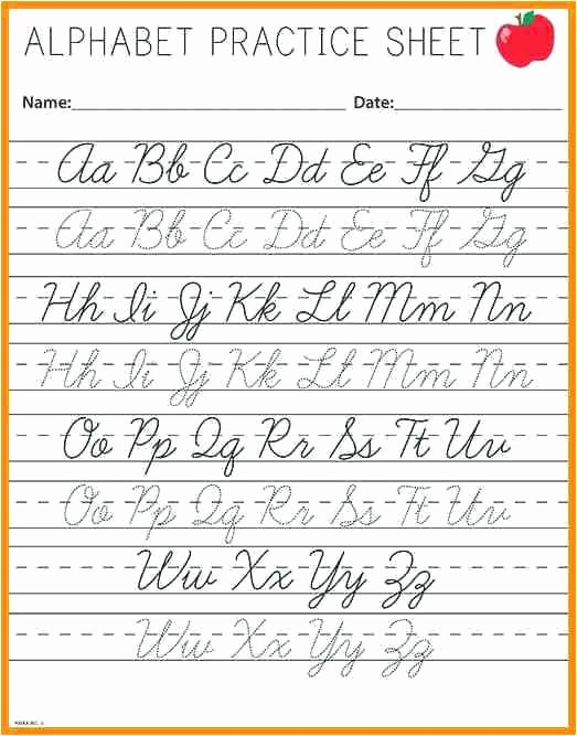 Russian Cursive Alphabet Practice Sheets Cursive Writing Alphabet Practice Sheets – Pointeuniformub