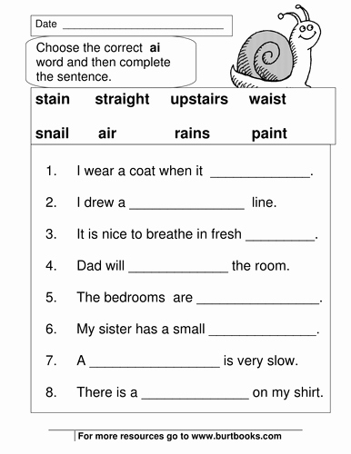 S and Z sounds Worksheets Fresh Phonics Worksheets Ai and Ay sounds