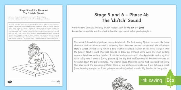 S and Z sounds Worksheets Unique Ch & Tch sound Worksheet Ni Phase 4b Phonics