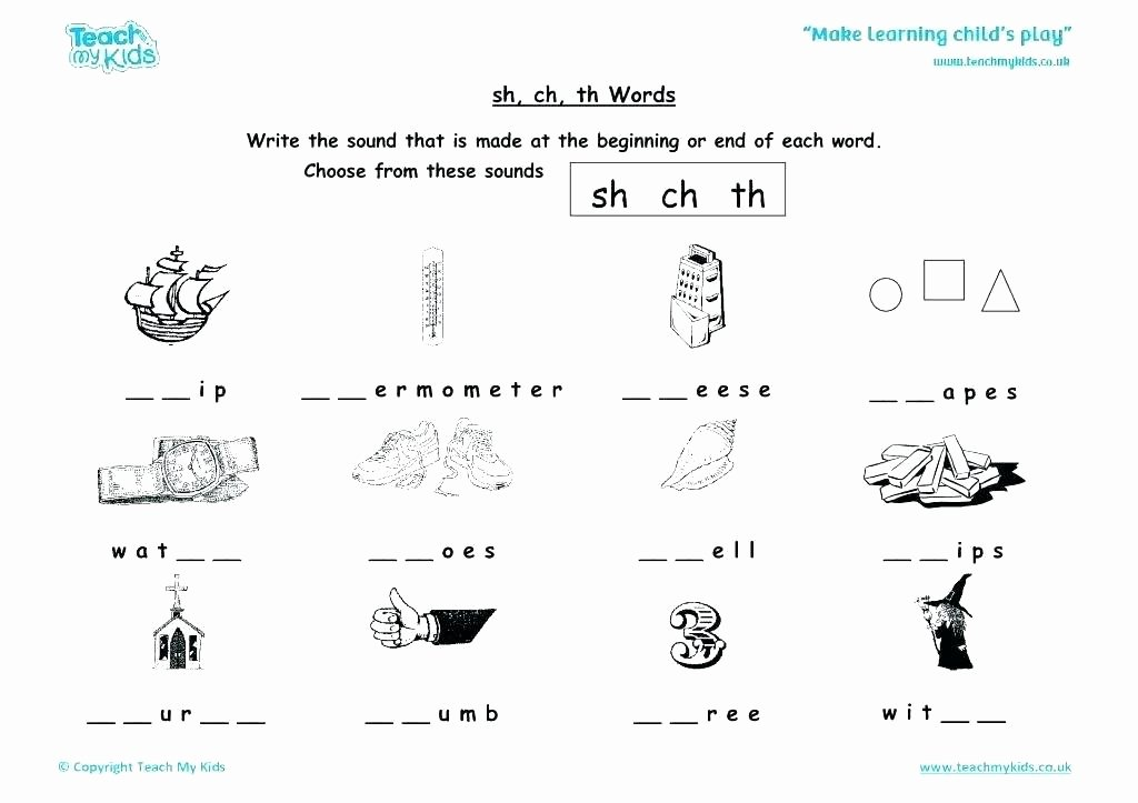 S and Z sounds Worksheets Unique Sh Phonics Worksheets