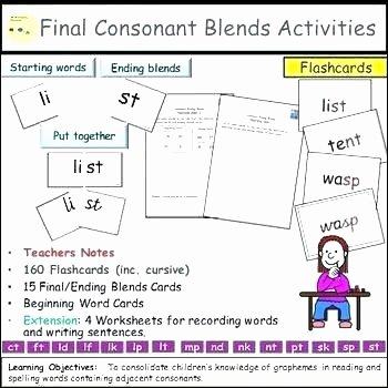 S Blend Worksheets 30 Ending Blends Worksheet