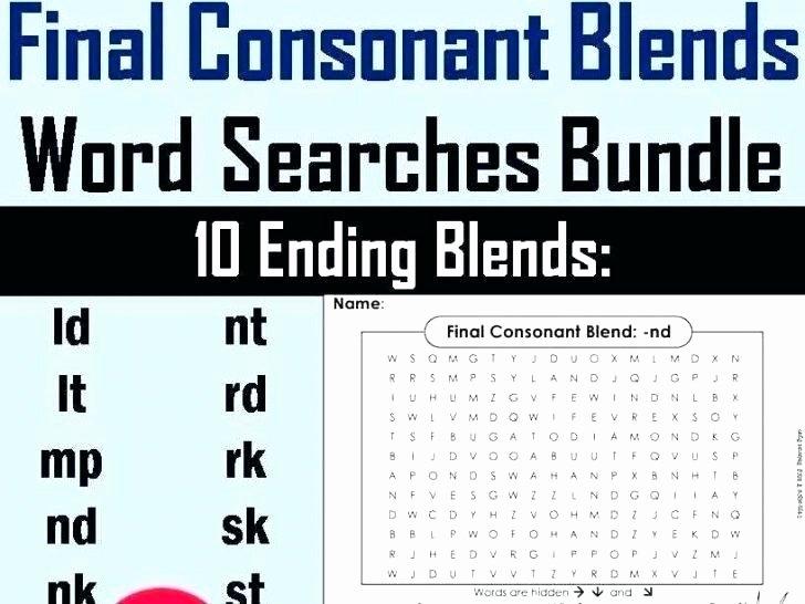 S Blend Worksheets Consonant Blends Worksheets for Grade 2 Free 1 Three Letter