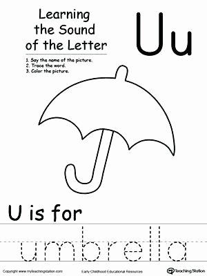 S sound Worksheet Beautiful Letter sounds Worksheets Elegant Learning Beginning sound U