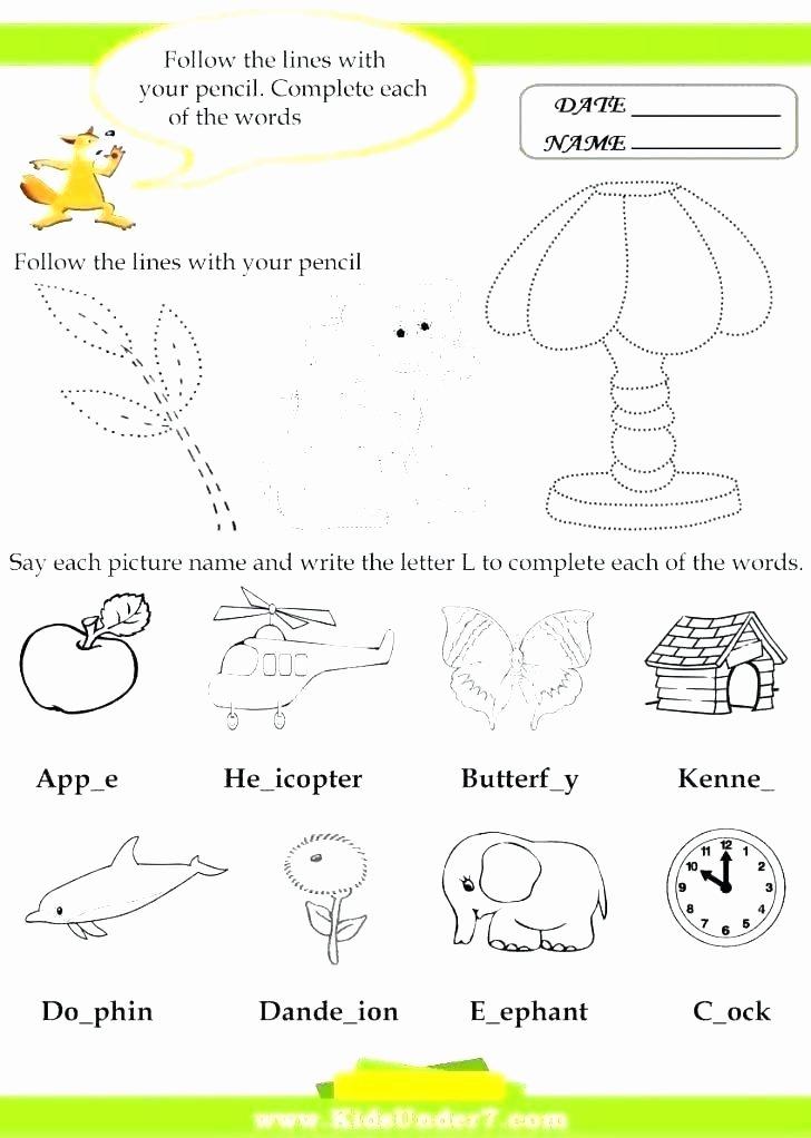 S sound Worksheet Inspirational Letter L Worksheets for Kindergarten