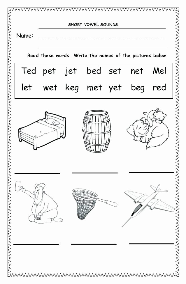 S sound Worksheets Fresh Fill In the Short Vowel Worksheets