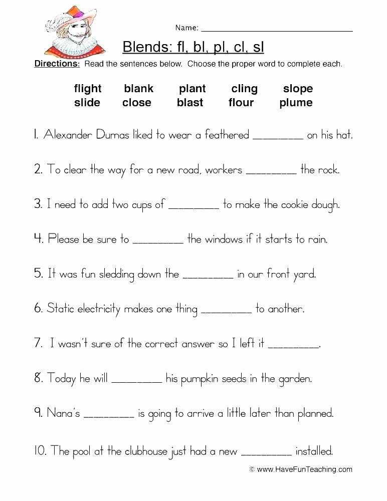 S sound Worksheets Inspirational L Blends Worksheets Consonant Clusters Letter for Grade 1