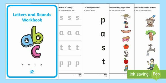 S sound Worksheets Unique Letters and sounds Workbook S A T P Letters and
