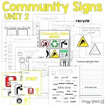Safety Signs Worksheets for Kindergarten Munity Safety Skills Worksheets