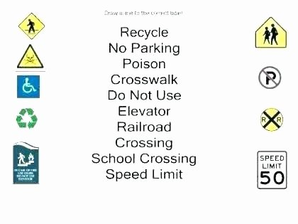 Safety Signs Worksheets for Kindergarten Munity Signs Worksheets Free Safety Signs and Symbols
