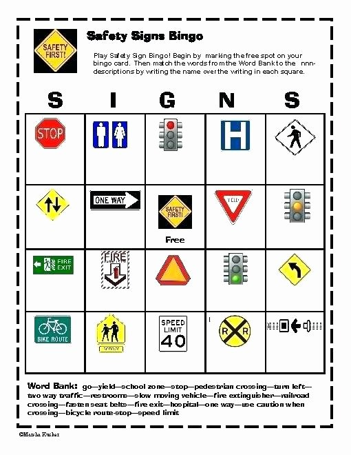 Safety Signs Worksheets Free Munity Signs Worksheets Free